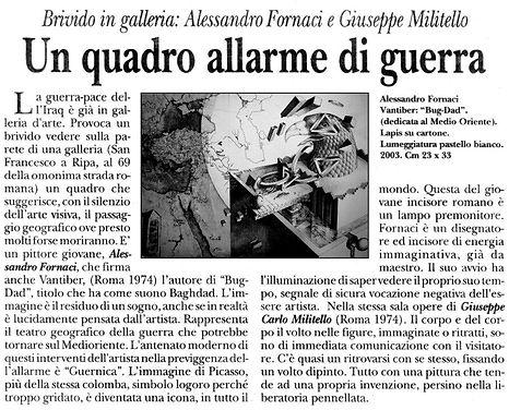 testo criticodi Giuseppe Selvaggi, dal Giornale d'Italia , 2003
