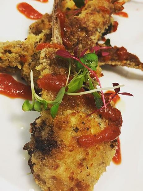 Parmesan and herb crusted lamb chops gar