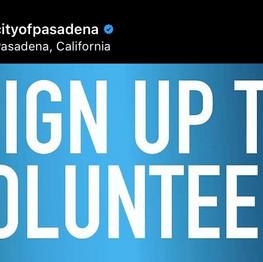 City of Pasadena   Volunteer
