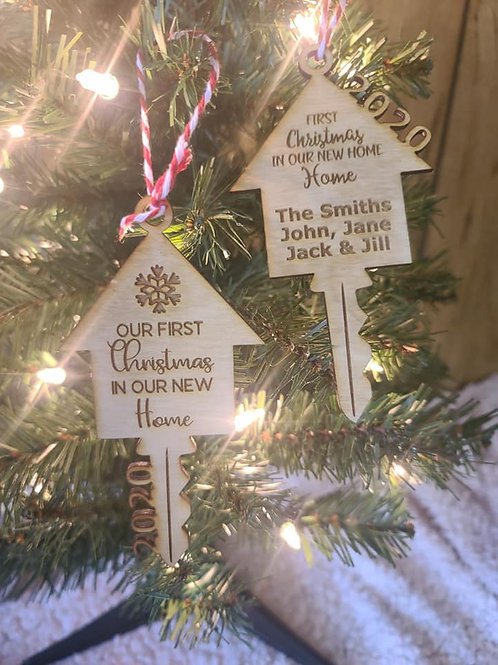 Our New Home Christmas Ornaments