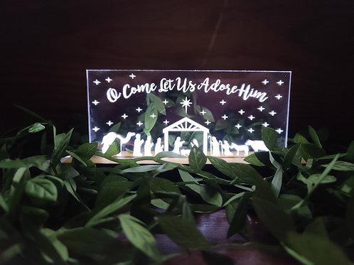 Lighted Acrylic Christmas Decoration
