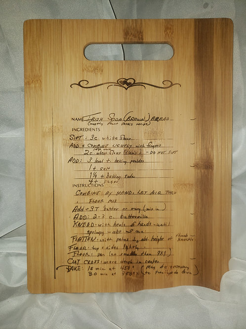 Cutting Board w/Laser Engraved Message