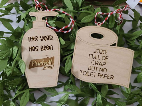 Funny Engraved Christmas Ornaments