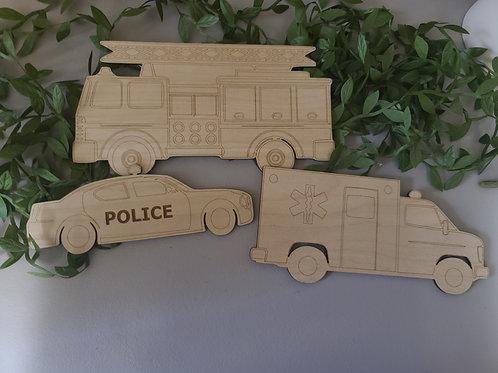 Emergency Vehicles Kids DIY Kit Digital Download