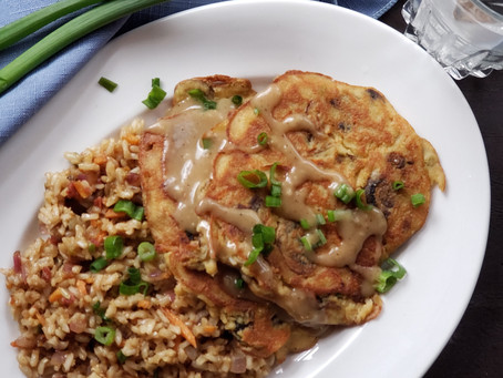 Eggless Foo Young with Fried Rice