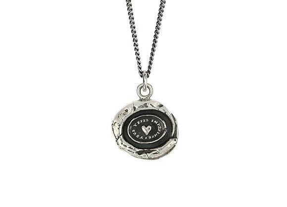 Heart Print Talisman Necklace by Pyrrha