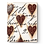 Thumbnail: Red Hearts With Script Sid Dickens Memory Tile