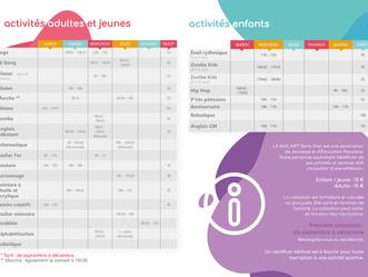 Programme Activités 2022