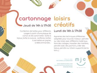 Activités Cartonnage / Loisirs créatifs