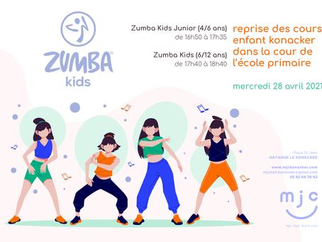 Reprise Zumba Kids le 28/04/21