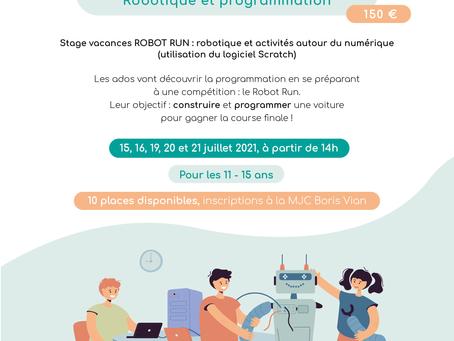 Stage Vacances Juillet 2021 : Robotique et programmation