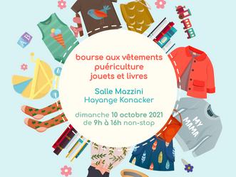 Bourse aux vêtements 10/10/2021