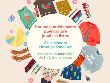 Bourse aux vêtements 20/03/2022