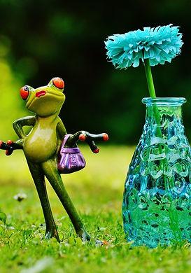 vase_flower_frog_funny_cute_sweet_meadow