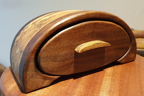 Walnut and Spalted Beech Jewellery Box