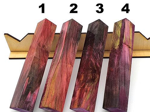 Stabilised & Triple Dyed Maple Burr