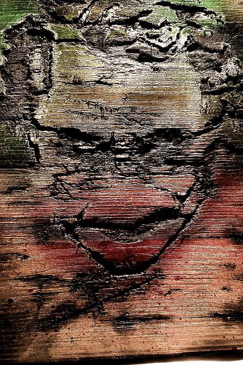 Batmans The Joker Fractured Wooden Sign art