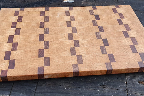 Oak and Walnut End Grain Cutting Board