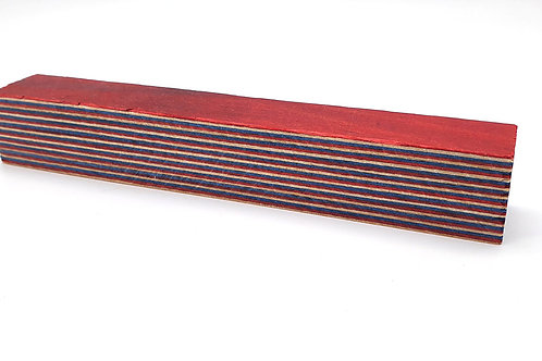 """""""Red, white and blue"""" Coloured Ply Pen Blanks"""