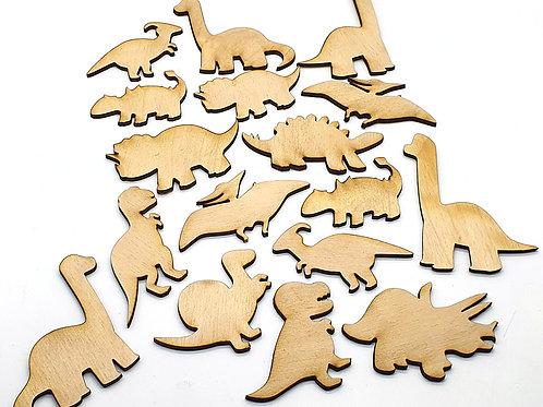 17 dinosaur cut outs