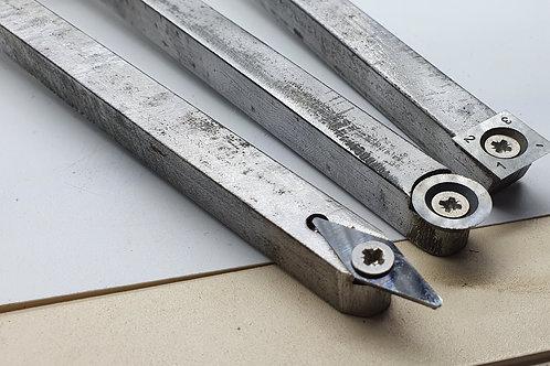 Set of 3 carbide chisels