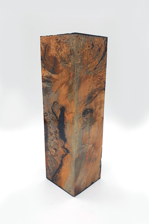 Stabilised Maple Burr Block with Black Infill
