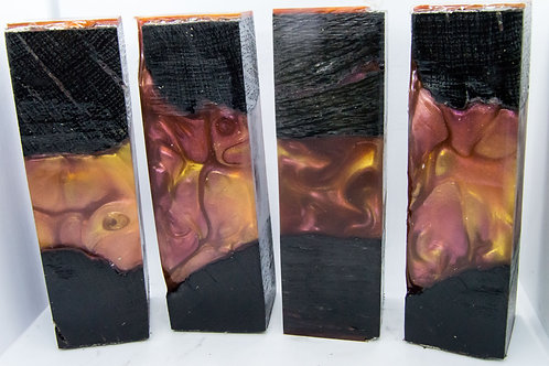 Large Bog Oak with Red and Gold