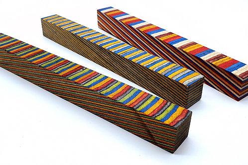 200mm Spectra Ply Wooden Pen Blanks