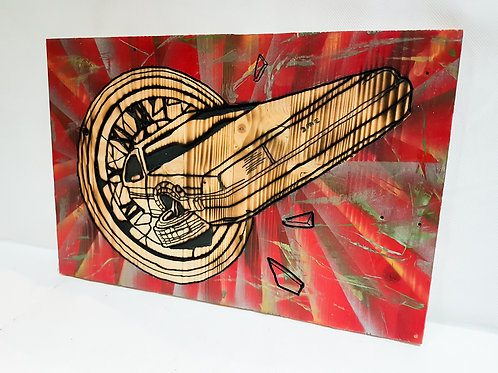 Back To The Future - Delorean/Clock Tower Carved Artwork
