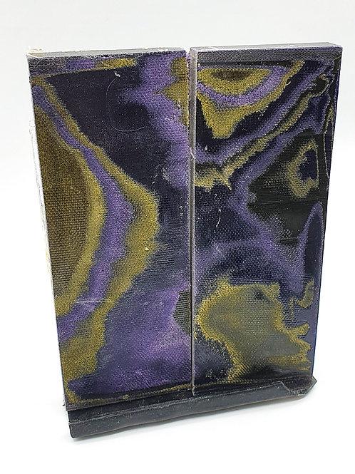 Canvas Micarta with Purple & Khaki