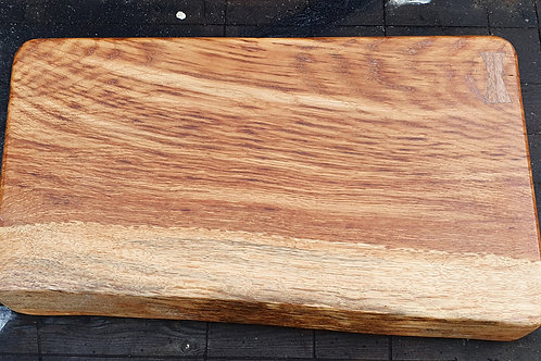 Brown Oak and Walnut Live Edge Cutting Board