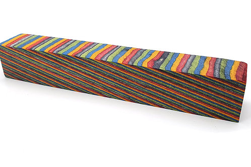 """""""Colourful Striped 2"""" Coloured Ply Pen Blanks"""