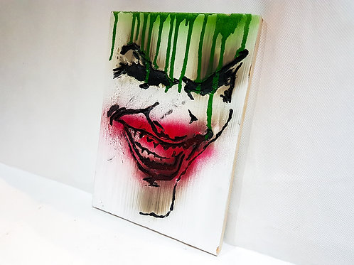 Batmans Joker Laughing Portrait Wooden Sign