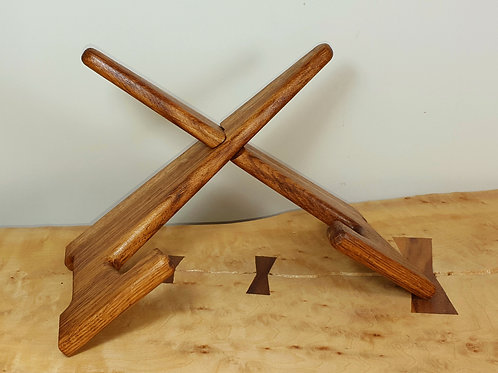 Brown Oak Tablet Stand