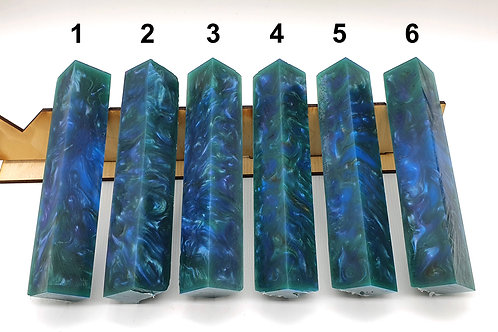 Resin Only Blue/Green