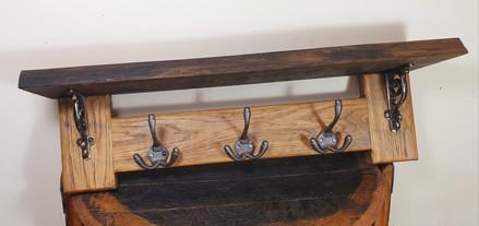 Oak coat rack