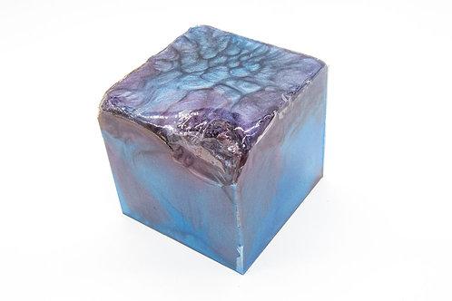 Hybrid Burr Elm Cube/Sphere 80mm