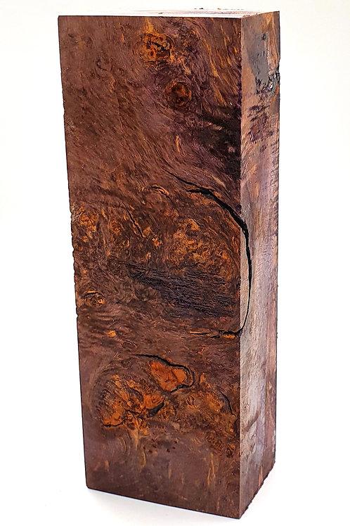 Stabilised Field Maple Hidden Tang Block
