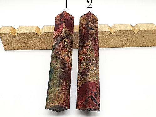 Stabilised Dyed Maple Burr