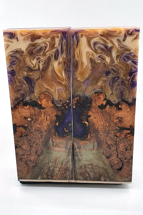 Stabilised Field Maple with Purple/Cream
