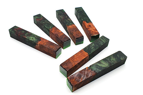 Burr Elm with Green & Red (3)