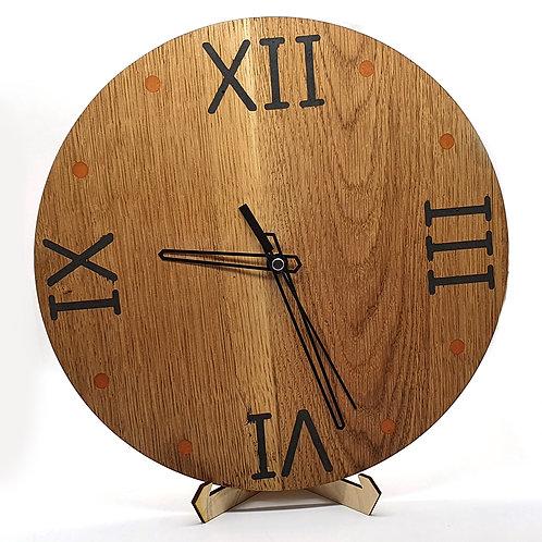 Oak Clock With Milliput Inlay