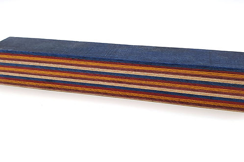 """""""Blue, Red"""" Coloured Ply Pen Blanks"""