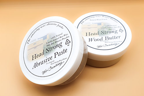 200g HeadStrong Abrasive Paste and 200g Wood Wax Butter Multi Buy