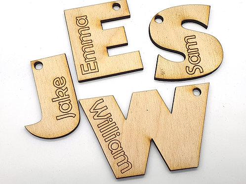 Name Tag Keyring