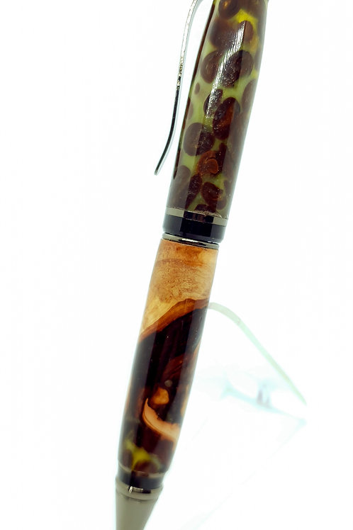 Yew and Coffee bean Cigar ball point pen