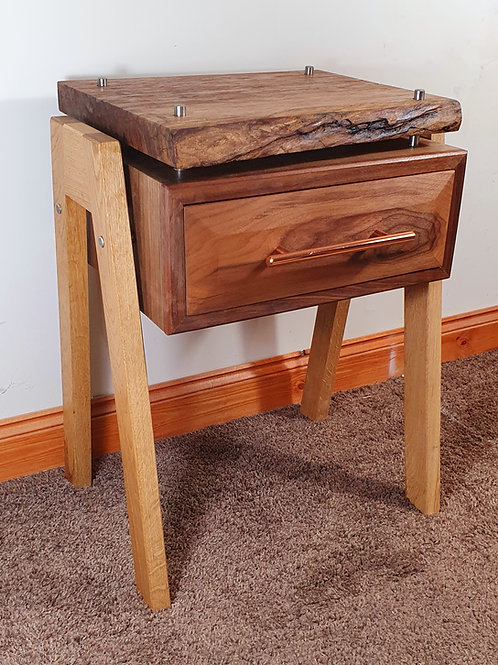 Walnut and Oak Side Table
