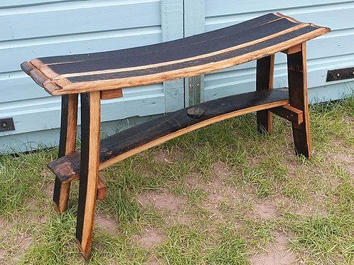 Jim Beam Oak Stave Japanese Style Bench
