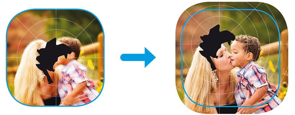 כיצד רואה המטופל לפני התרגול ואחרי בתוספת משקפי הגדלה