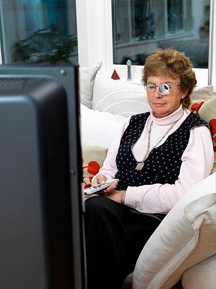 משקפיים טלסקופים לצפייה בטלוויזיה